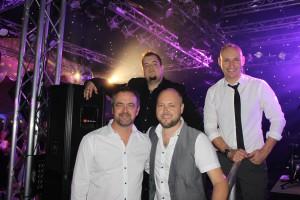 John, Boli, Greg and Steve after the Sturmer Hall Wedding Gig